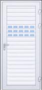 Drzwi z profili AW 100 z profilem przeszklonym