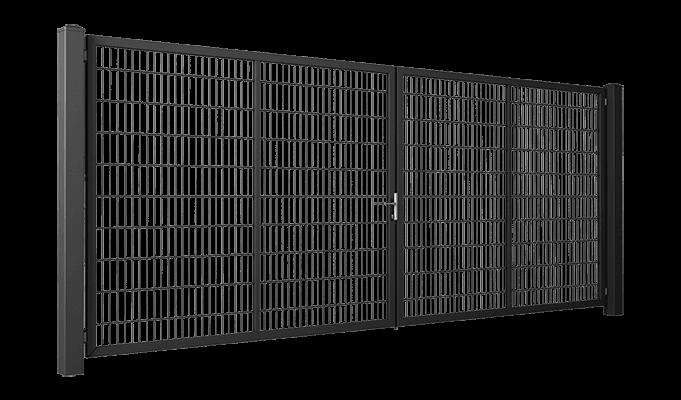 Brama dwuskrzydłowa GARDIA wypełnienie bramy panel kratowy Vega 2D