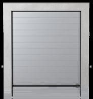 Brama przemysłowa segmentowa z paneli z przetłoczeniem wysokim (W)