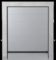Brama przemysłowa segmentowa z paneli bez przetłoczeń (G)