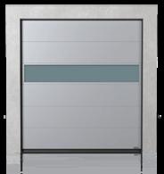 Brama przemysłowa segmentowa z panelem aluminiowym VISUAL