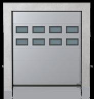 Brama przemysłowa segmentowa z okienkami A-2 x2