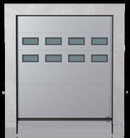 Brama przemysłowa segmentowa z okienkami A-1 x2