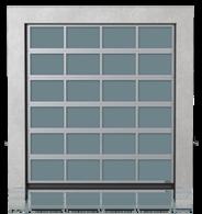 Brama przemysłowa segmentowa aluminiowa