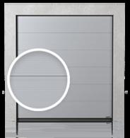 Brama przemysłowa segmentowa z paneli z przetłoczeniem V (V)
