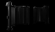 Brama dwuskrzydłowa V-KING z wypełnieniem palisadowym 25x25 mm
