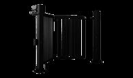 Brama jednoskrzydłowa prawa V-KING z wypełnieniem palisadowym 25x25 mm