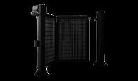 Brama jednoskrzydłowa prawa V-KING z wypełnieniem panelem kratowym Vega 2D Super