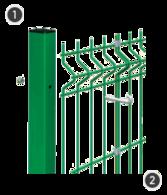 SYSTEM BETA - na słupach o przekroju 60 x 40 mm z otworami montażowymi.