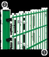SYSTEM DELTA 2D - na słupach o przekroju 60 x 40 mm