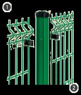 SYSTEM GAMMA - na dwuteowych słupach o przekroju 65 x 42 mm z otworami montażowymi.