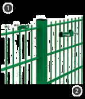 SYSTEM OMEGA 2D - na słupach o przekroju 60 x 40 mm.
