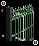 SYSTEM SAFE - na słupach o przekroju 60 x 40 mm z otworami montażowymi.
