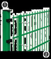 SYSTEM SIGMA 2D - na słupach o przekroju 60 x 40 mm.