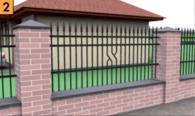Segmenty, brama i furtka wykonane ze stali, zamontowane do słupków murowanych