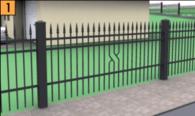 Segmenty, słupki systemowe, brama i furtka wykonane ze stali