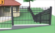 Schodkowanie segmentów ogrodzeniowych