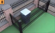 Kwestię obecności pojemników na śmieci na naszej działce możemy łatwo rozwiązać budując altankę, mur lub parkan wykończony dodatkowymi furtkami lub segmentami
